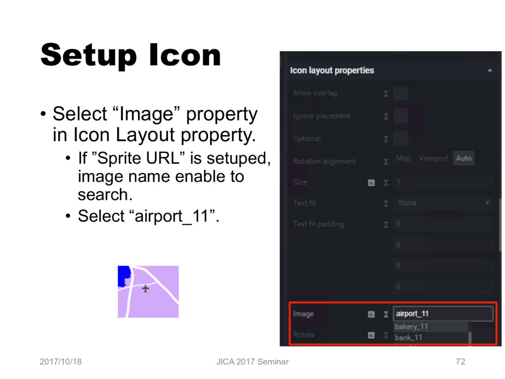 "Setup Icon • Select ""Image"" property in Icon La..."