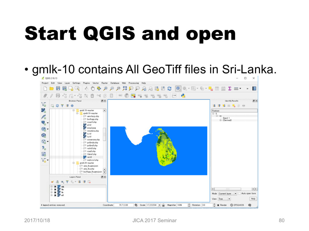 Start QGIS and open • gmlk-10 contains All GeoT...