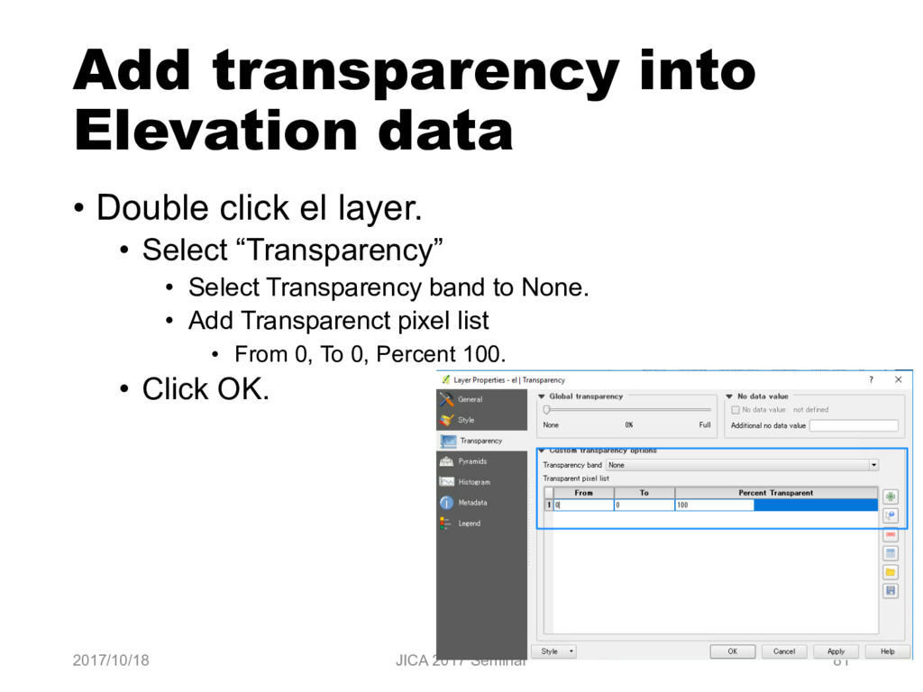 Add transparency into Elevation data • Double c...