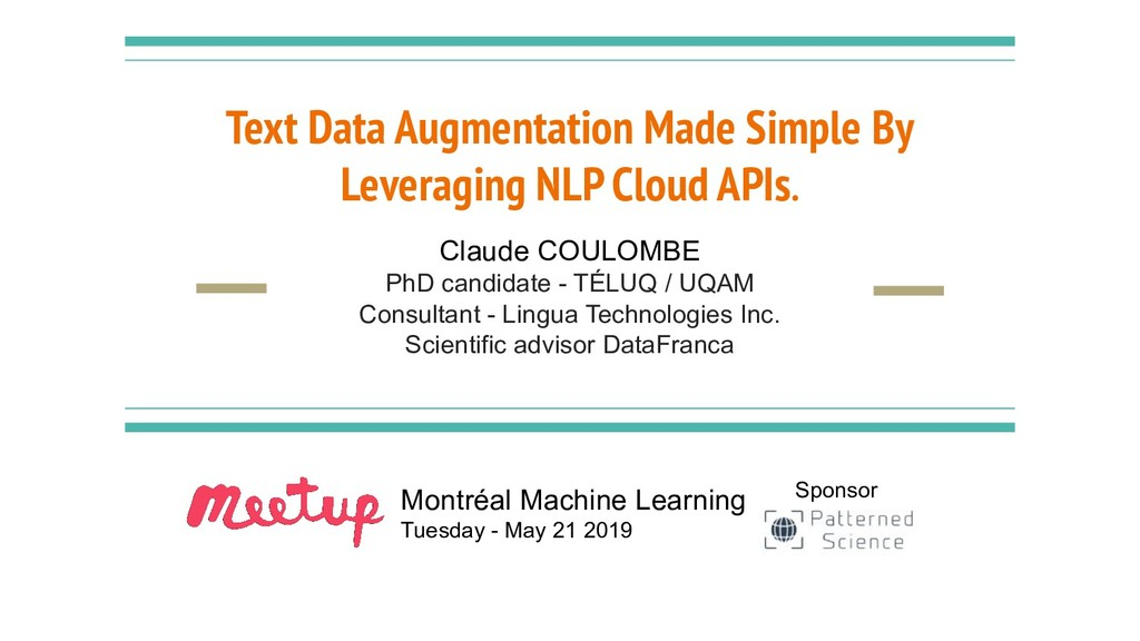 Text Data Augmentation Made Simple By Leveragin...