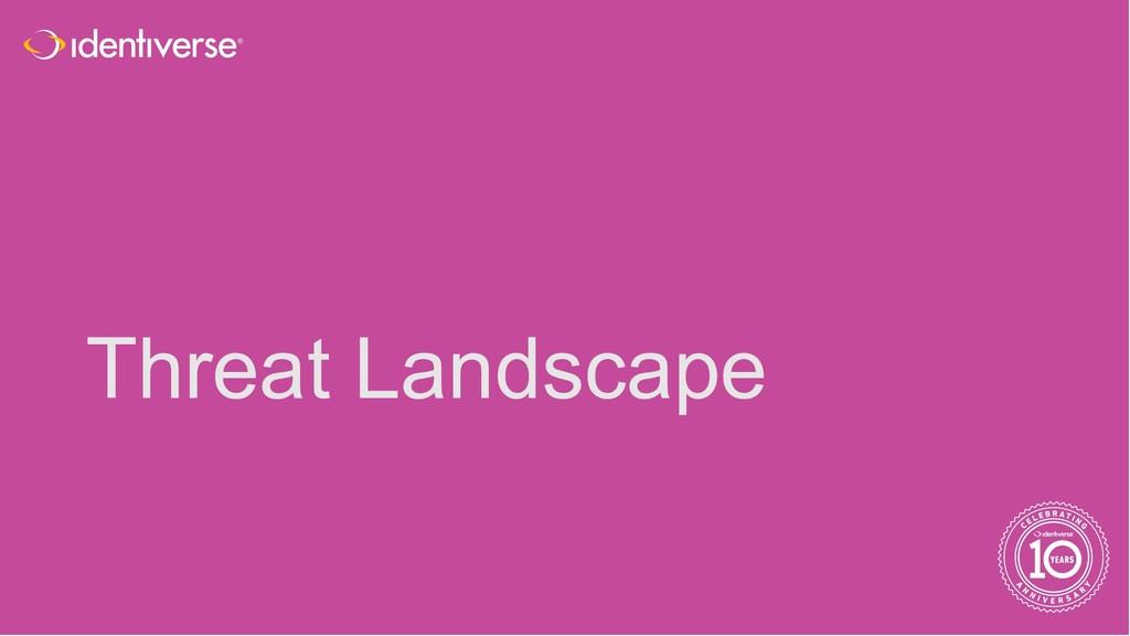 ® Threat Landscape