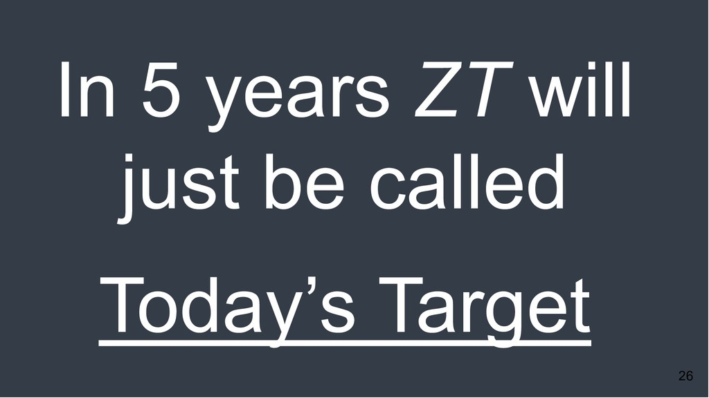 26 In 5 years ZT will just be called Today's Ta...