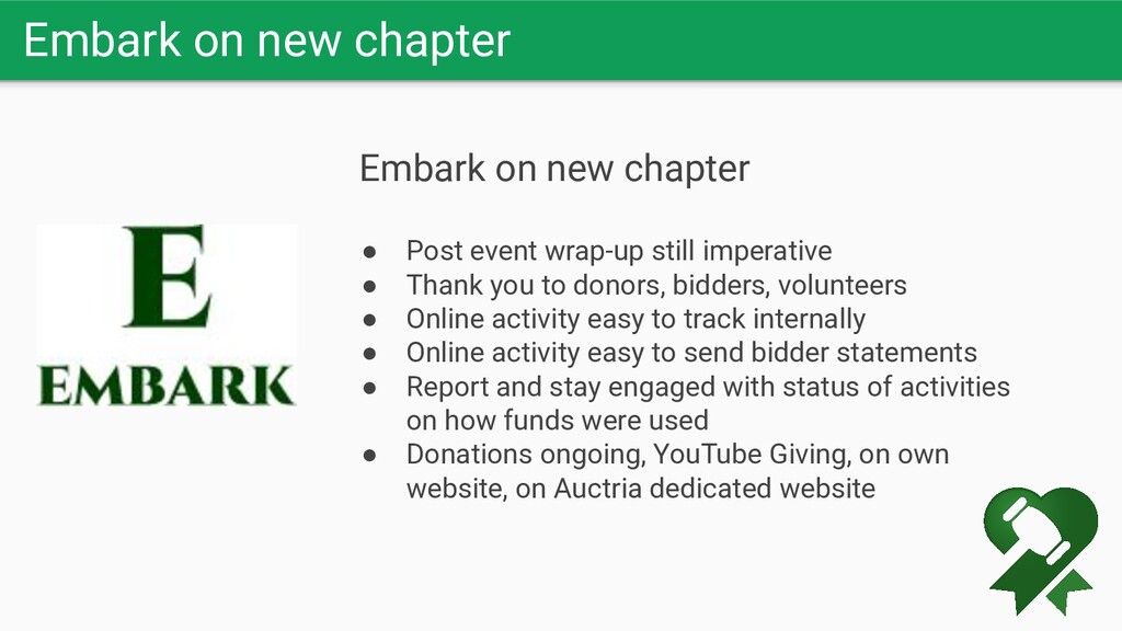 Embark on new chapter Embark on new chapter ● P...