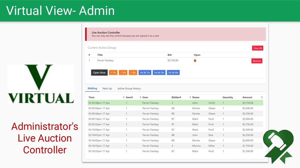 Virtual View- Admin Administrator's Live Auctio...