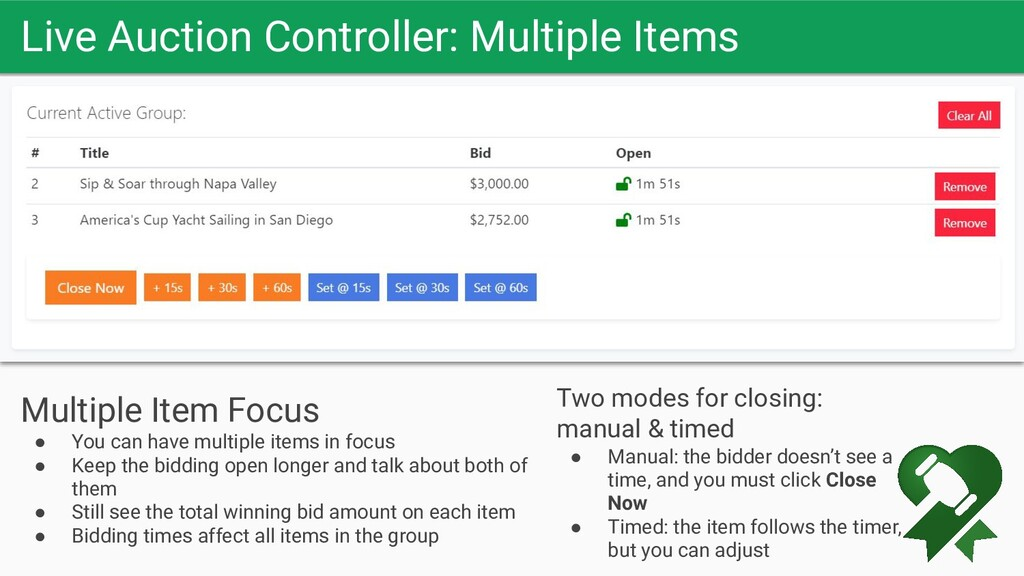Live Auction Controller: Multiple Items Let the...