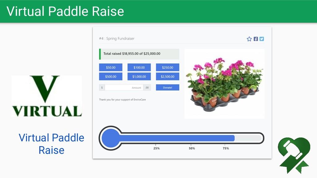 Virtual Paddle Raise Virtual Paddle Raise