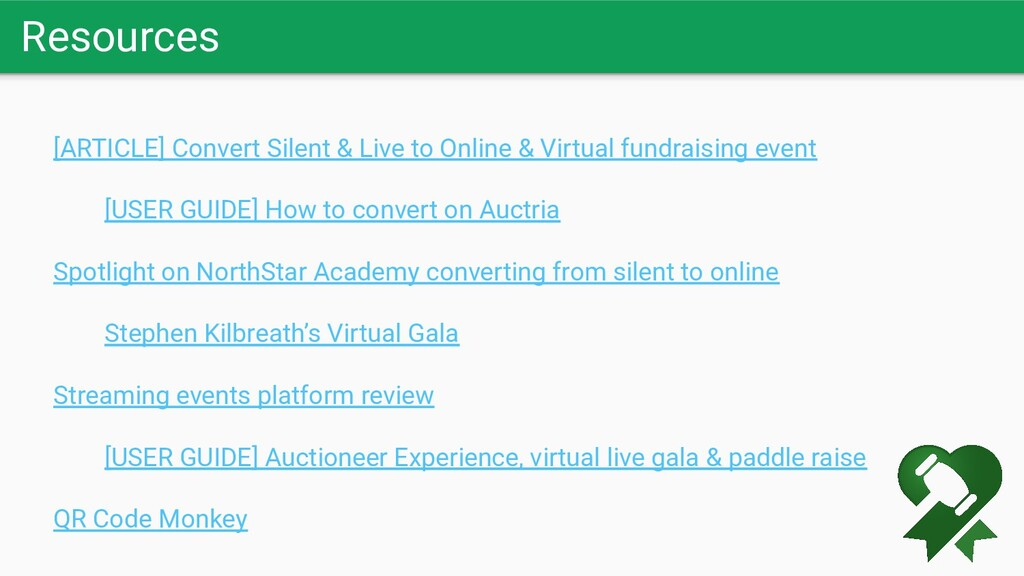 Resources [ARTICLE] Convert Silent & Live to On...