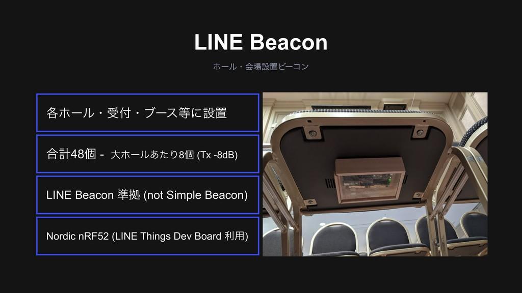 ઃஔঢ়گ͕Θ͔ΔΑ͏ͳࣸਅ ϗʔϧɾձઃஔϏʔίϯ LINE Beacon Nordic n...