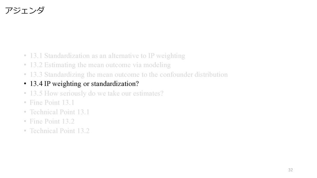 アジェンダ 32 • 13.1 Standardization as an alternati...
