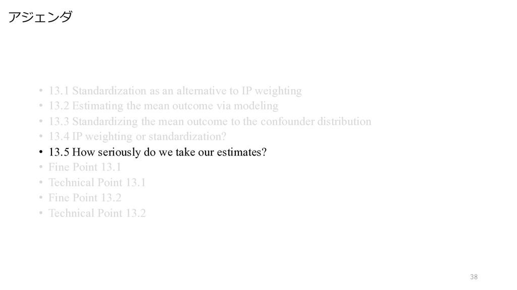 アジェンダ 38 • 13.1 Standardization as an alternati...