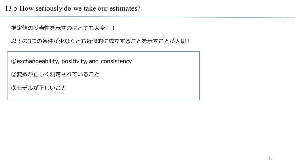 13.5 How seriously do we take our estimates? 40...