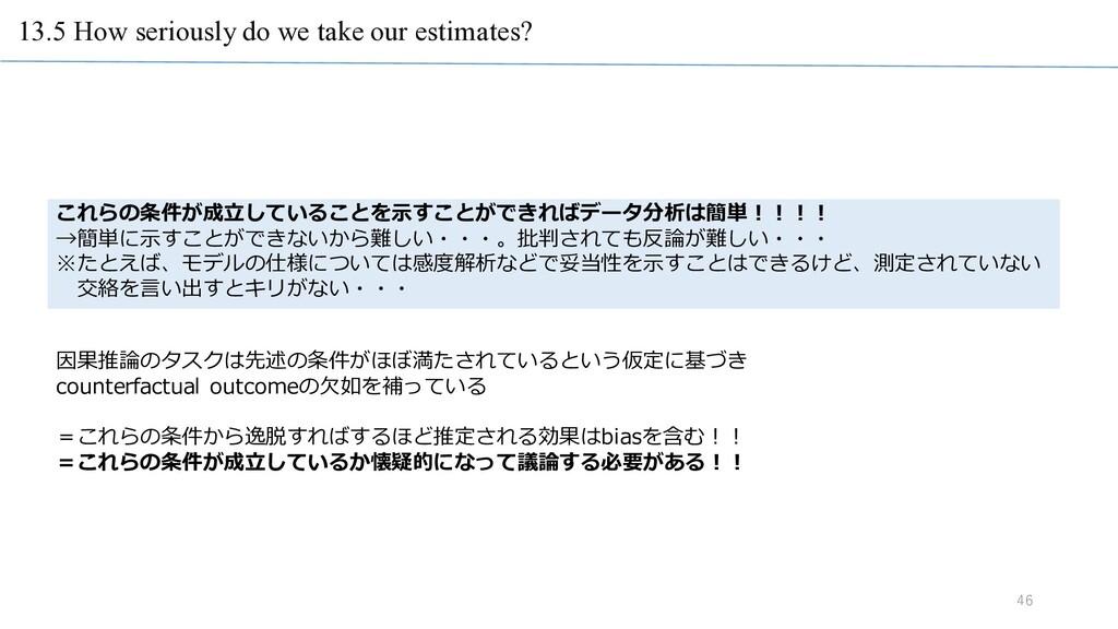 13.5 How seriously do we take our estimates? 46...