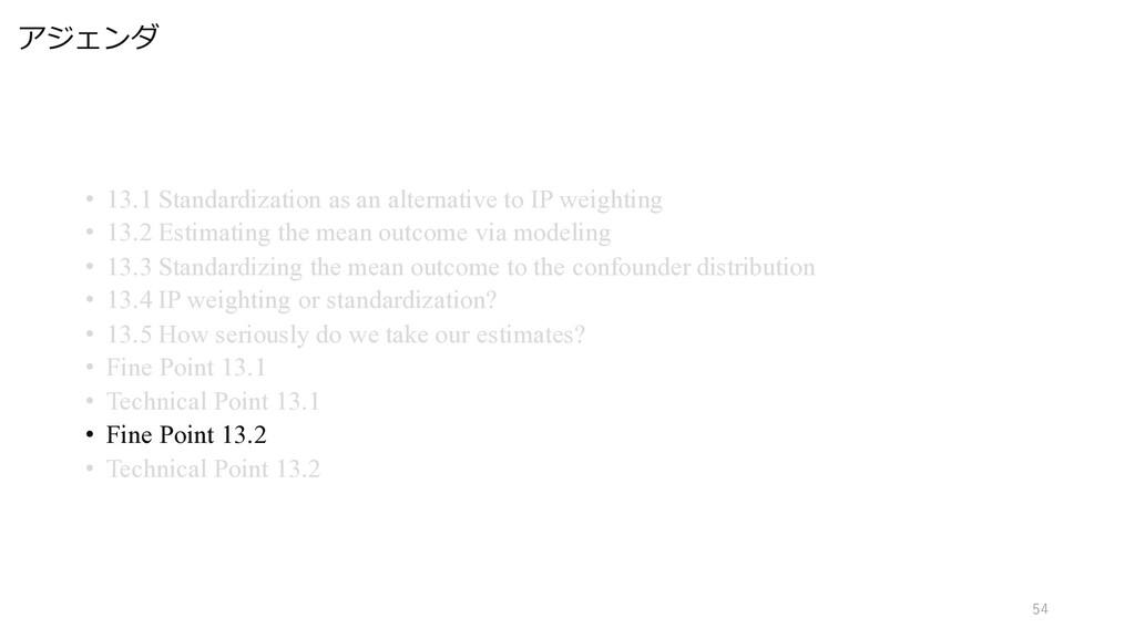 アジェンダ 54 • 13.1 Standardization as an alternati...