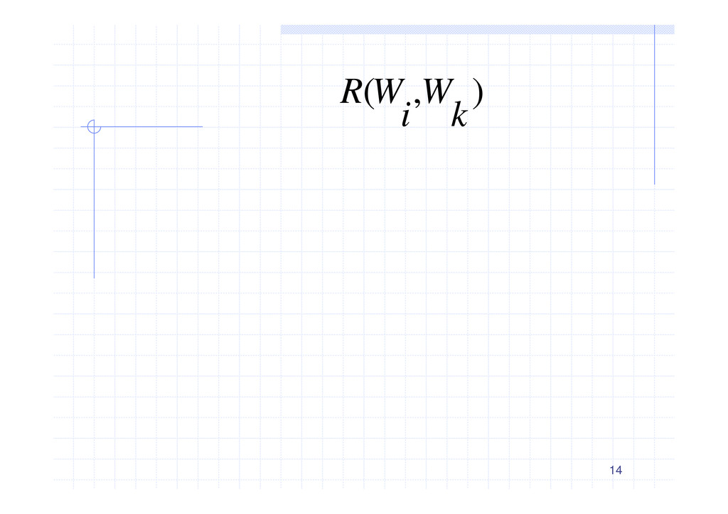 14 ) , ( k W i W R ؚ༗είΞ 5 = k W 4 1 = ∩ k W W...