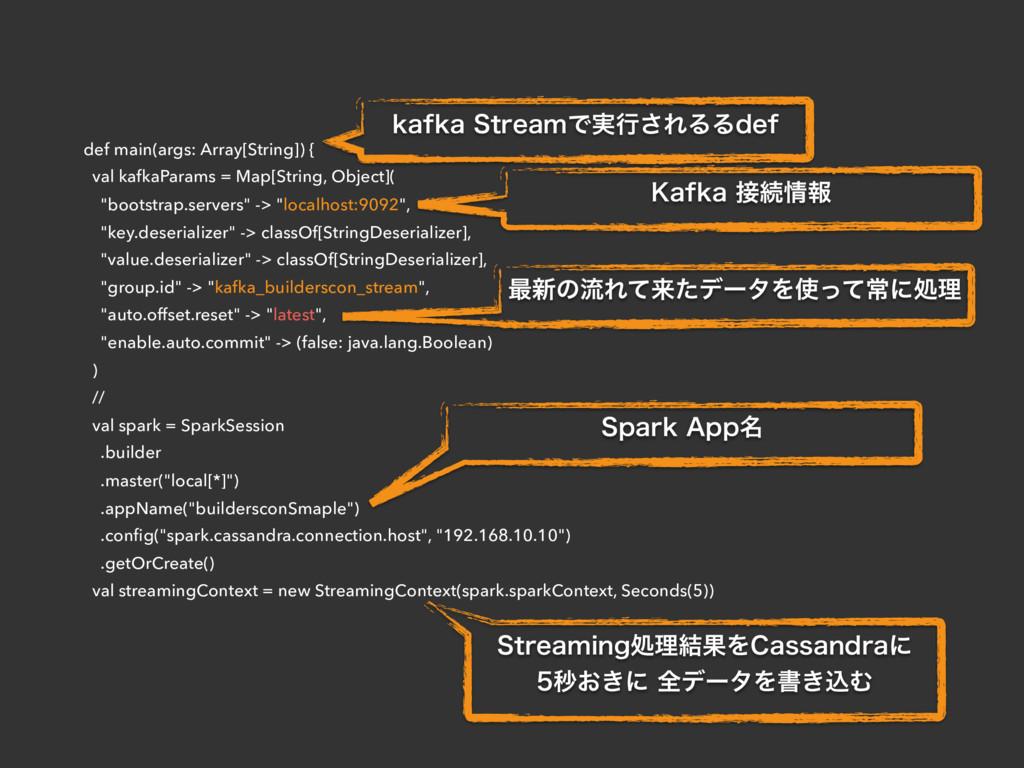def main(args: Array[String]) { val kafkaParams...