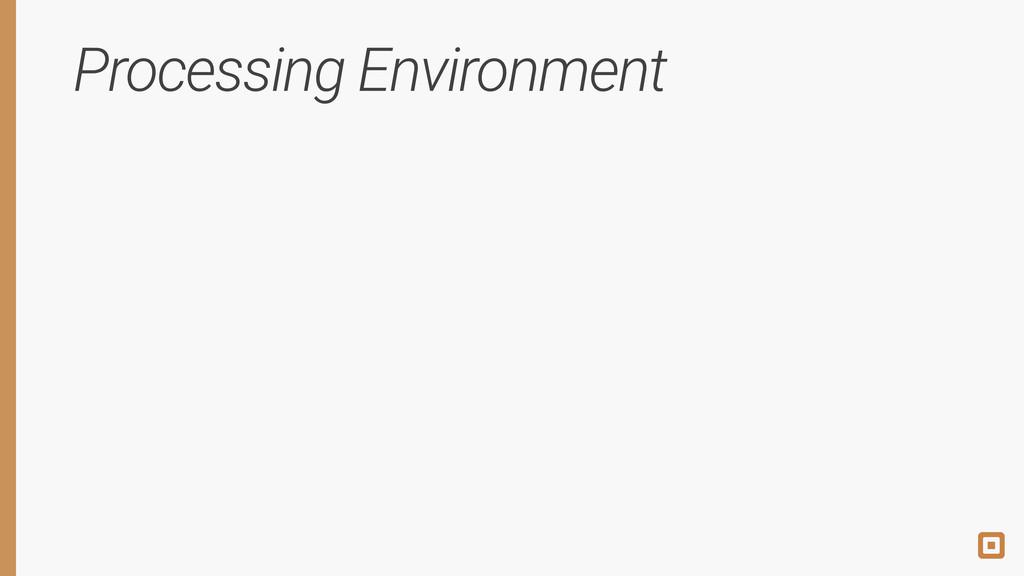 Processing Environment