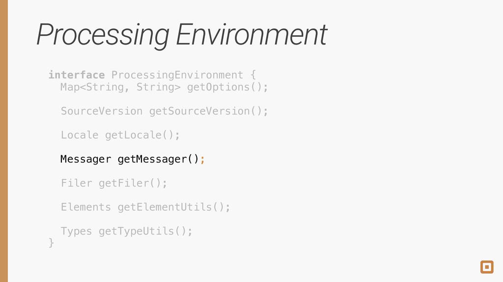 Processing Environment interface ProcessingEnvi...