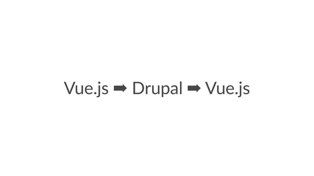 Vue.js ➡ Drupal ➡ Vue.js