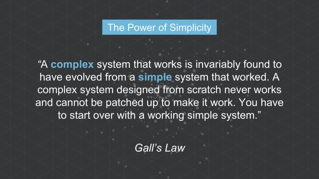 """A complex system that works is invariably foun..."