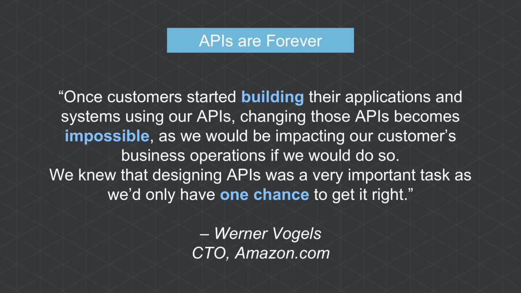 """Once customers started building their applicat..."