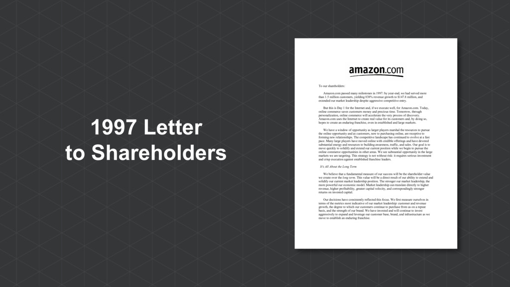 1997 Letter to Shareholders To our shareholders...