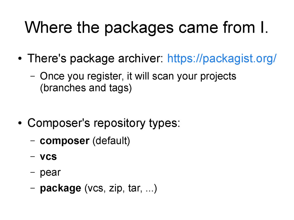 Where the packages came from I. ● There's packa...