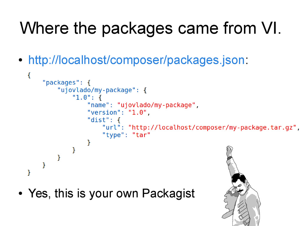 Where the packages came from VI. ● http://local...