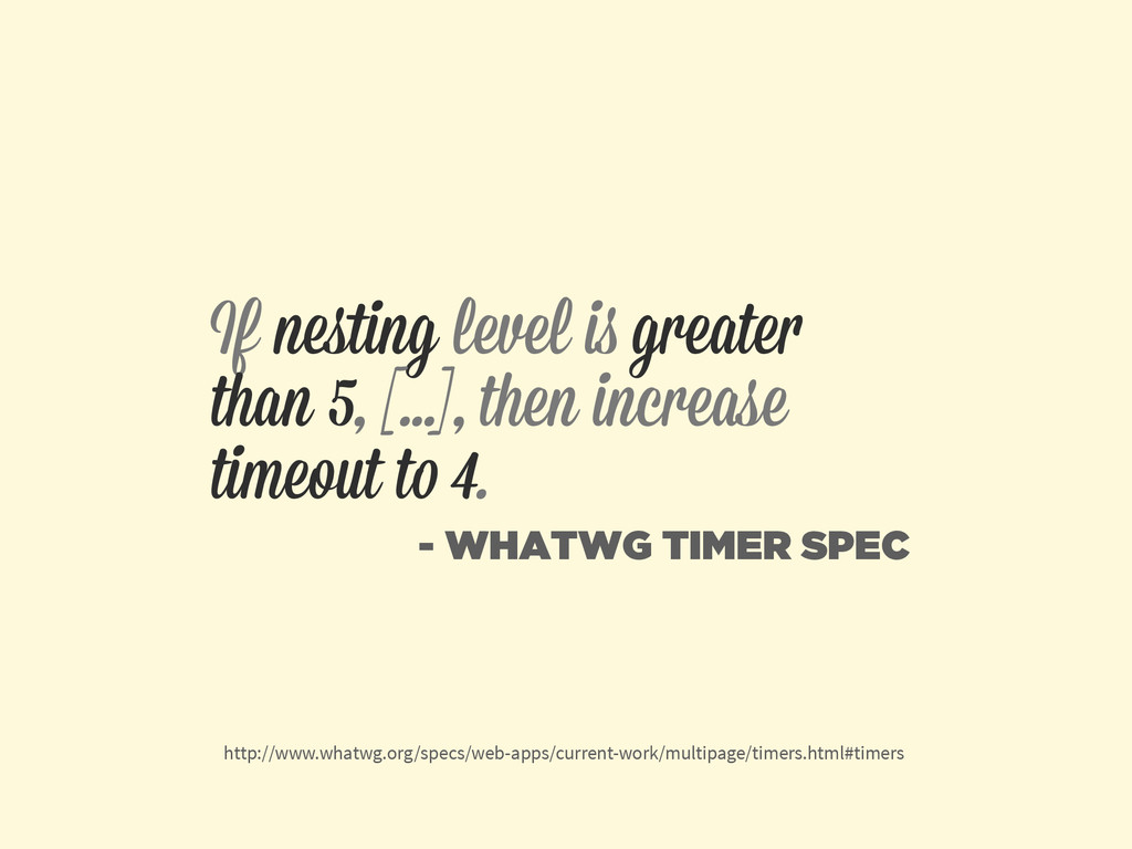 If nesting level is greater than 5, [...], then ...