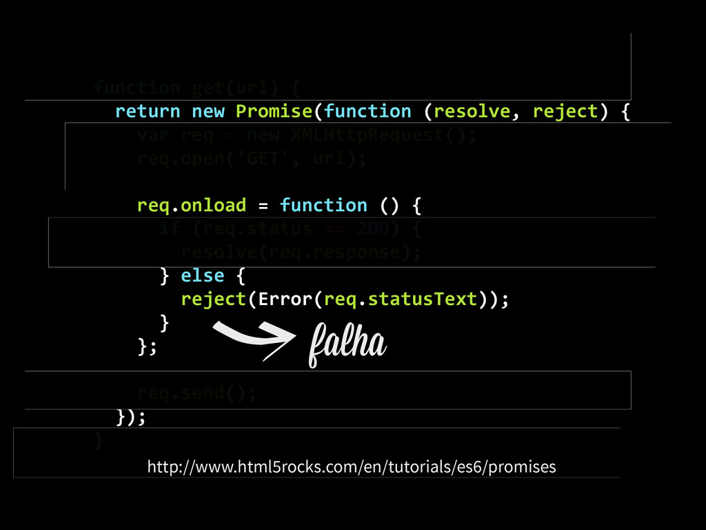 function get(url) {    return ...