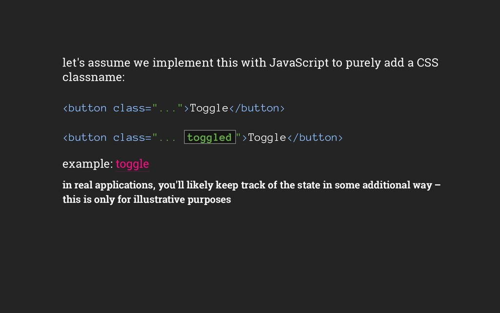 let's assume we implement this with JavaScript ...