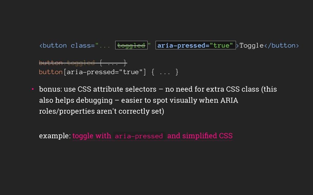 """<button class=""""... """" aria-pressed=""""true"""" >Toggl..."""