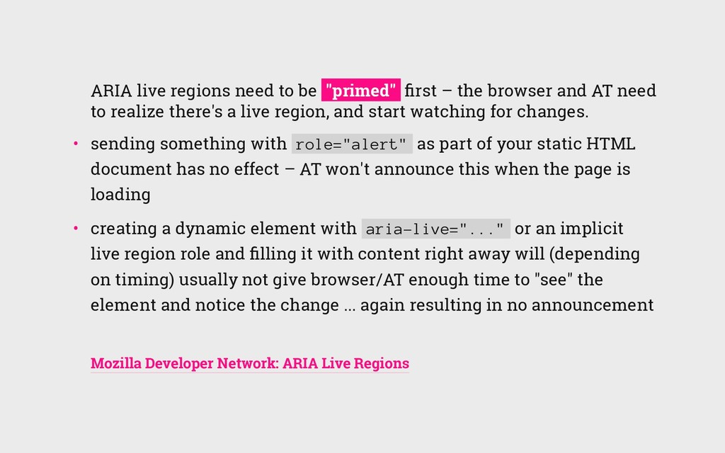 """ARIA live regions need to be """"primed"""" first – th..."""