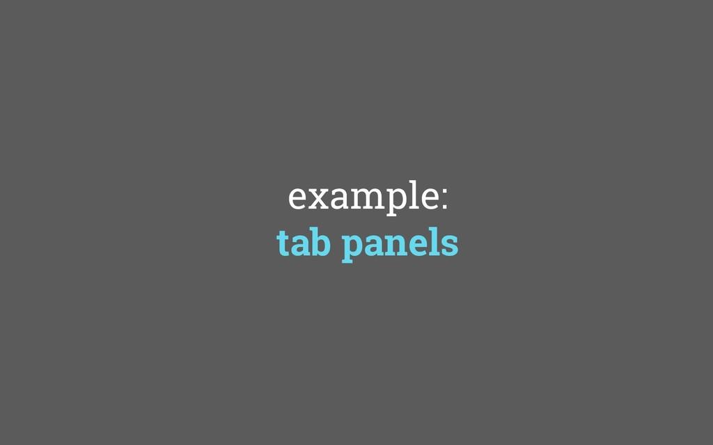example: tab panels