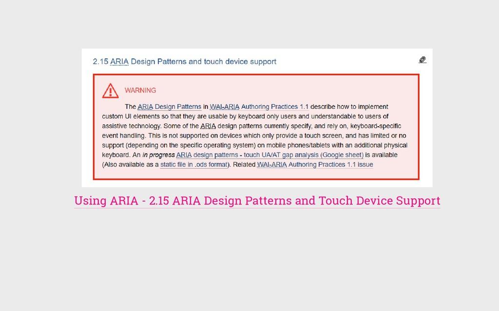 Using ARIA - 2.15 ARIA Design Patterns and Touc...