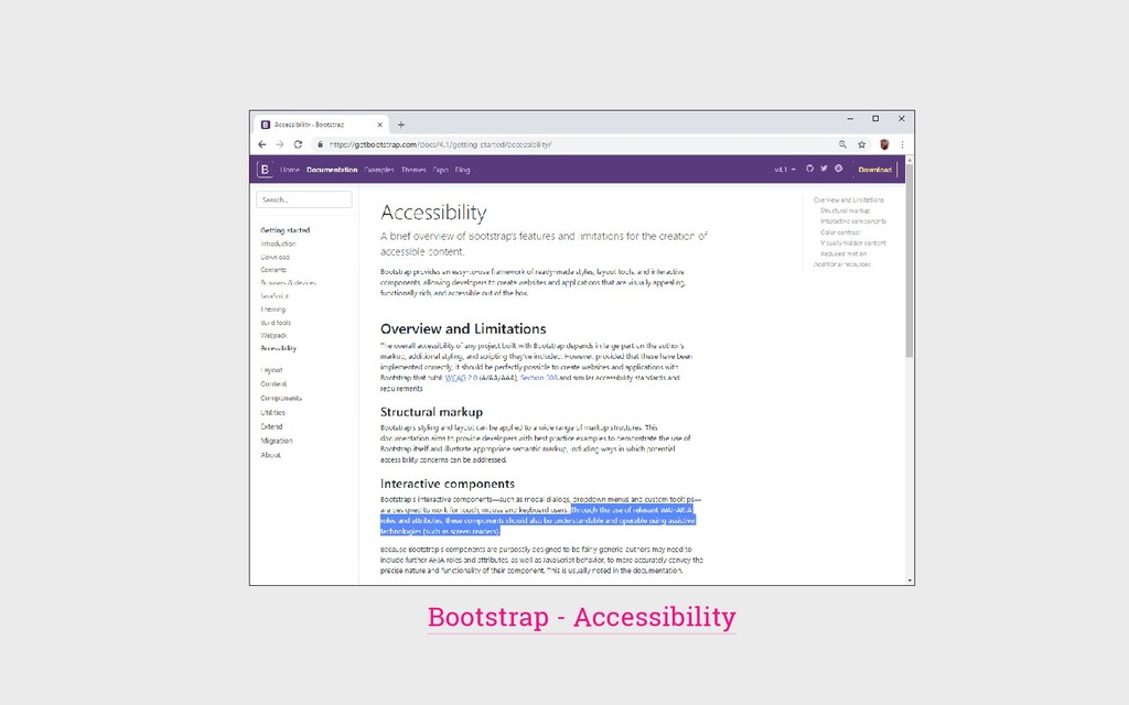 Bootstrap - Accessibility