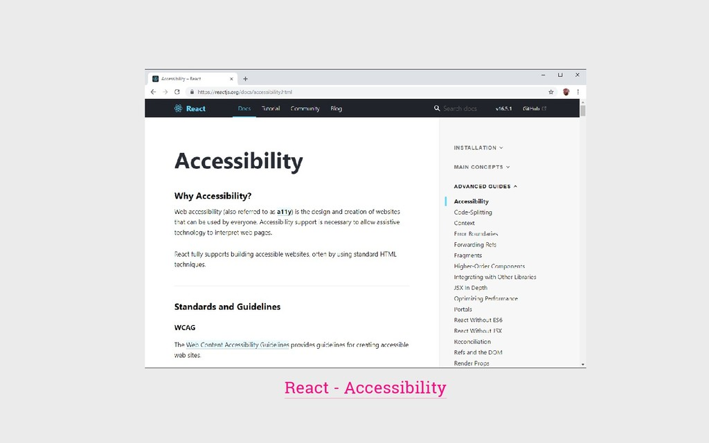 React - Accessibility