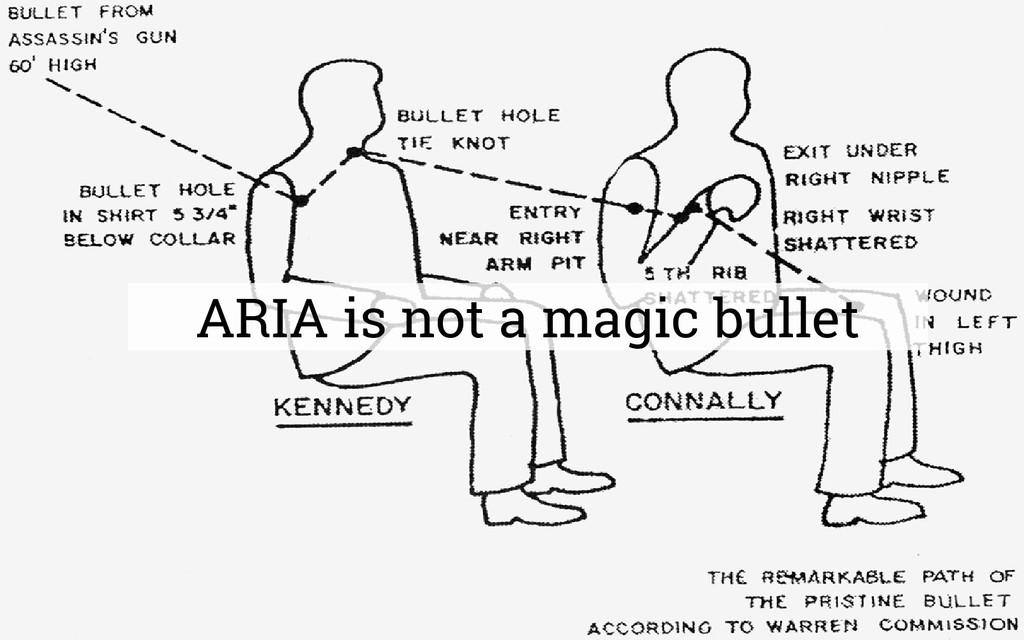 ARIA is not a magic bullet