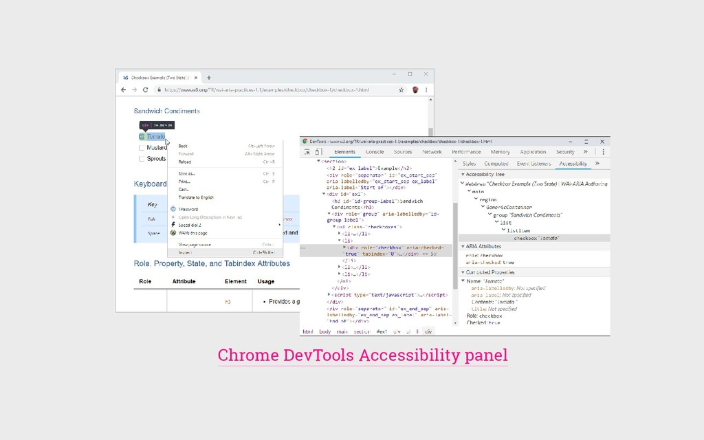 Chrome DevTools Accessibility panel