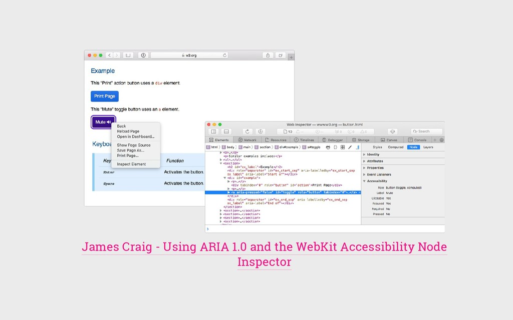 James Craig - Using ARIA 1.0 and the WebKit Acc...