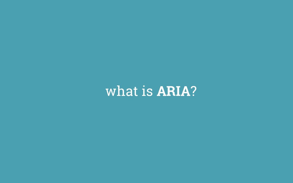what is ARIA?