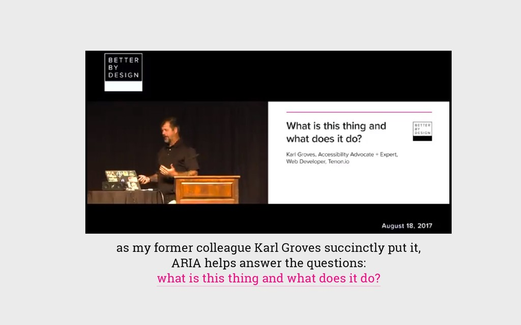 as my former colleague Karl Groves succinctly p...