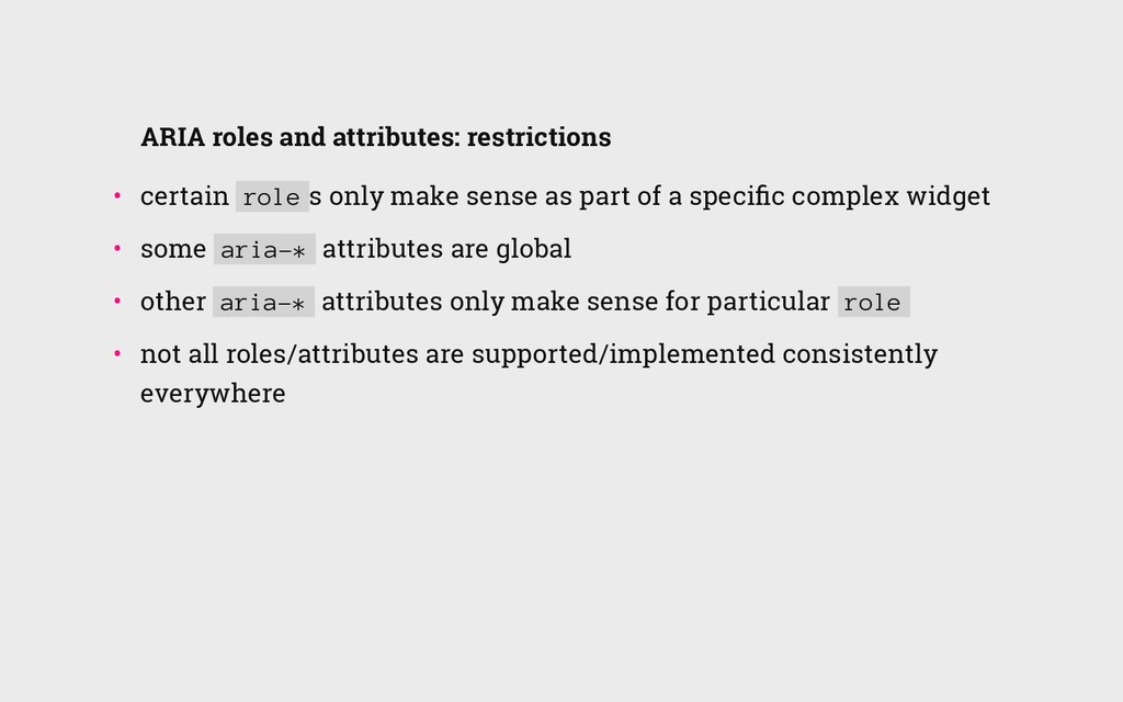 ARIA roles and attributes: restrictions • cert...