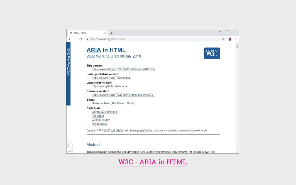 W3C - ARIA in HTML