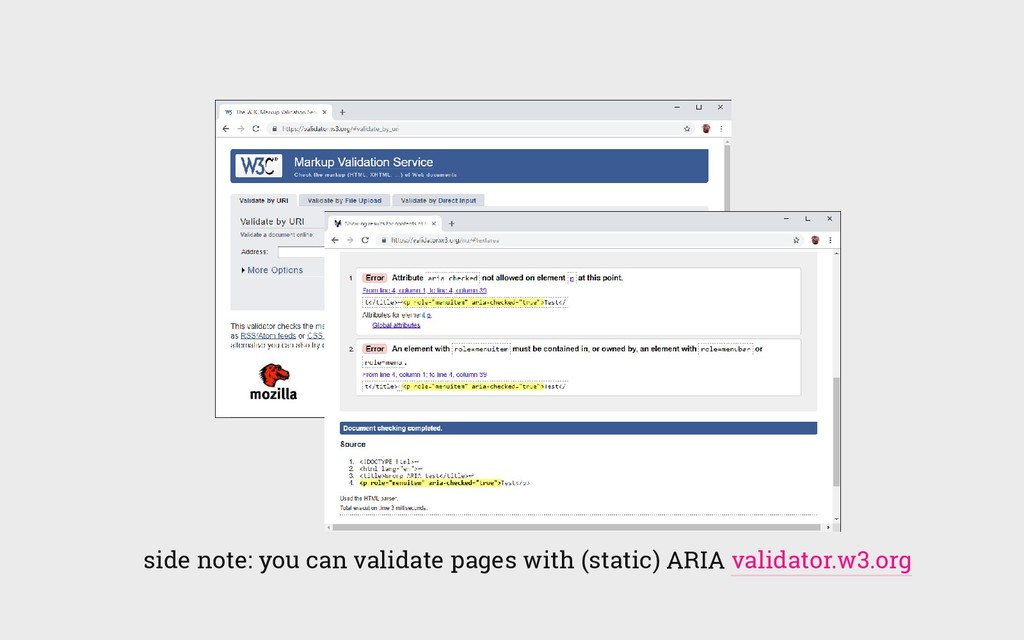 side note: you can validate pages with (static)...