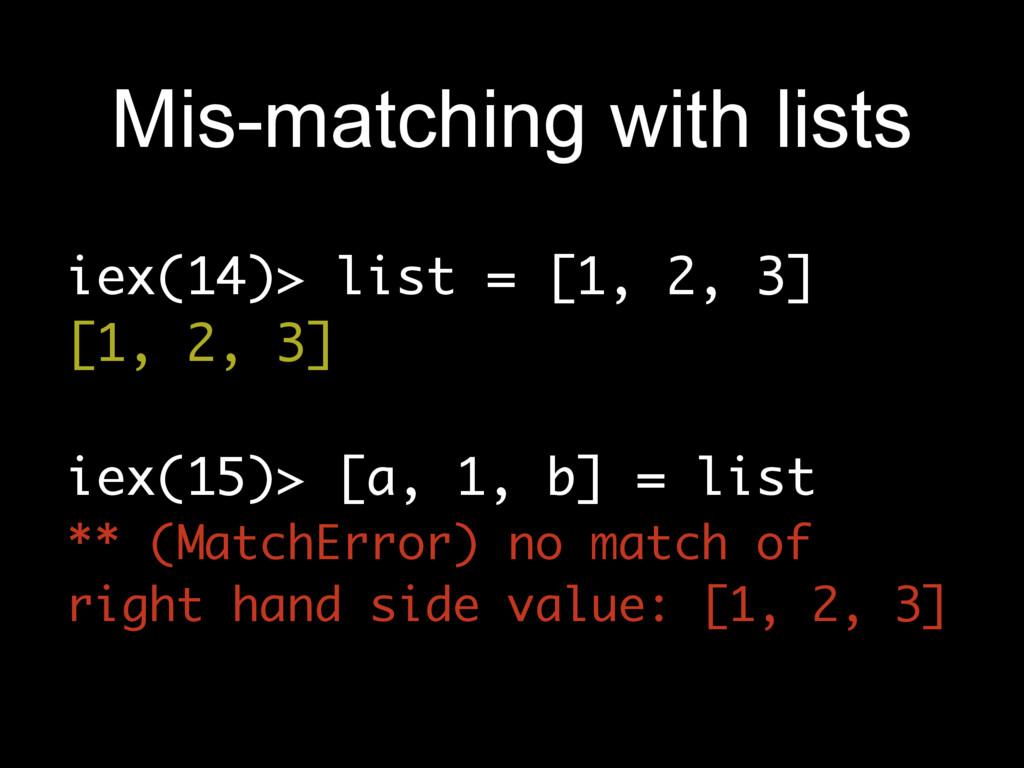 iex(14)> list = [1, 2, 3] [1, 2, 3] iex(15)> [a...