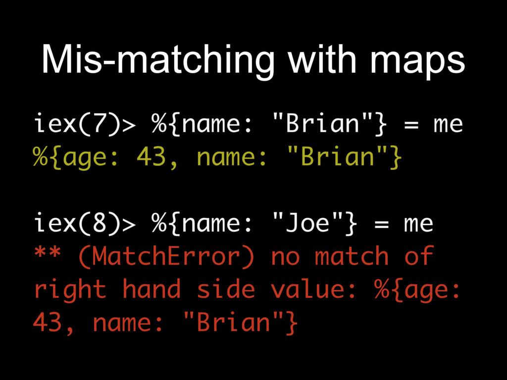 """iex(7)> %{name: """"Brian""""} = me %{age: 43, name: ..."""