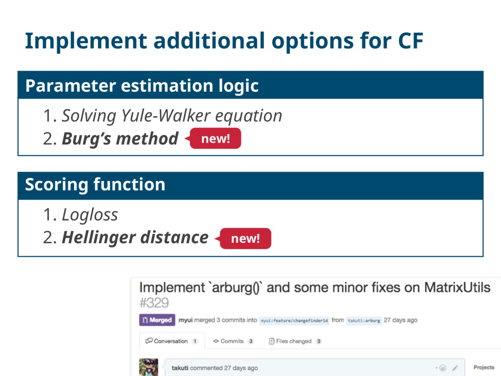 Implement additional options for CF Parameter e...