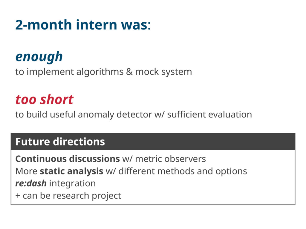 2-month intern was: enough to implement algorit...
