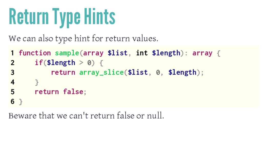 Return Type Hints We can also type hint for ret...
