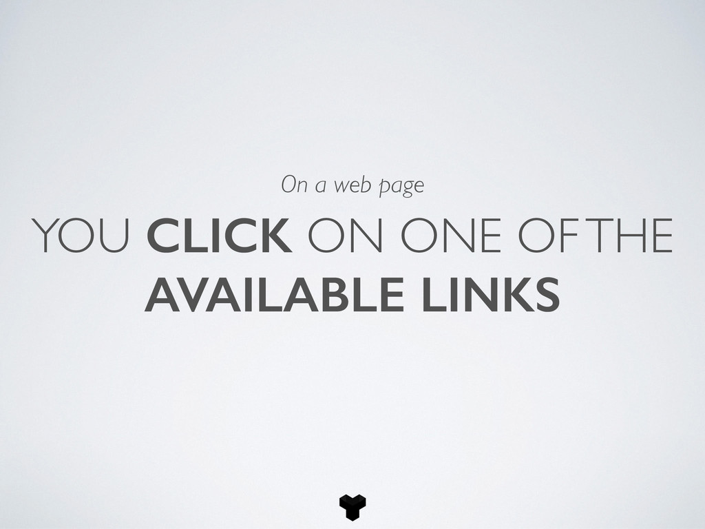 YOU CLICK ON ONE OF THE AVAILABLE LINKS On a we...
